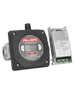 """Digital Meter with 1"""" Ports and Pulse Output Without Intrinsically Safe Barrier, BSPT Ports"""