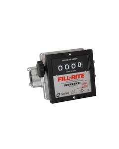 """4-Digit 1.5"""" Mechanical Flow Meter, Nickel Plated, BSPT Ports"""
