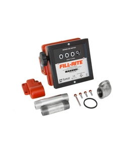 """4-Digit 1"""" Mechanical Flow Meter with Fittings for FR4200 Pump"""