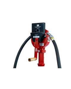 Rotary Hand Pump with Gallon Counter, Hose, and Suction Pipe Included