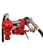12V DC 15GPM Heavy-Duty Fuel Transfer Pump with Manual Nozzle