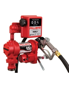 12V DC 15GPM Heavy-Duty Fuel Transfer Pump with Mechanical Meter, Manual Nozzle