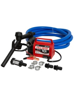 12V DC, 10 GPM Portable Diesel Fuel Only Transfer Pump (NPT Ports, Nozzle & Hose Combination)