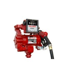 115V/230V AC 35GPM Heavy-Duty Fuel Transfer Pump and Ultra Hi-Flow Auto Nozzle