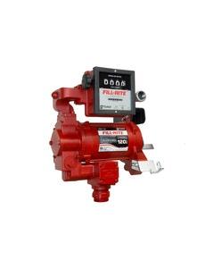 115V/230V AC 35GPM Heavy-Duty Fuel Transfer Pump with Mechanical Meter (Litre)