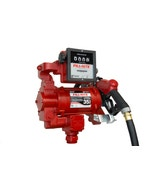 115V/230V AC 35GPM Heavy-Duty Fuel Transfer Pump with Mechanical Meter (Litre) and Ultra Hi-Flow Auto Nozzle