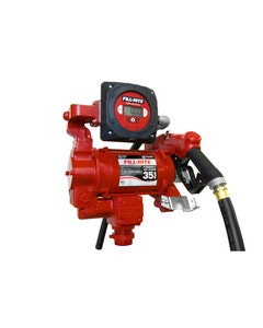 115V/230V AC 35GPM Heavy-Duty Fuel Transfer Pump with Digital Meter and Ultra Hi-Flow Auto Nozzle