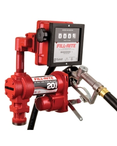 12V DC 20GPM Heavy-Duty Fuel Transfer Pump with Mechanical Meter, Manual Nozzle
