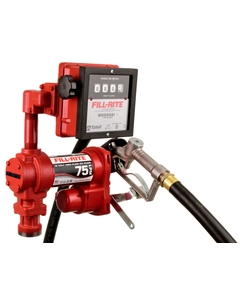 12V DC 20GPM Heavy-Duty Fuel Transfer Pump with Litre Mechanical Meter, Manual Nozzle