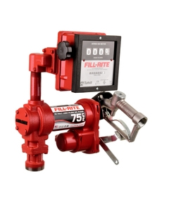 12V DC 20GPM Heavy-Duty Fuel Transfer Pump with Litre Mechanical Meter