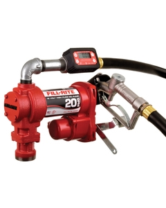 12V DC 20GPM Heavy-Duty Fuel Transfer Pump with Digital In-Line Meter, Manual Nozzle