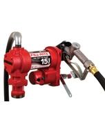 115V AC 15GPM Heavy-Duty Fuel Transfer Pump with Manual Nozzle