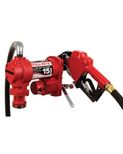 115V AC 15GPM Heavy-Duty Fuel Transfer Pump with Automatic Nozzle