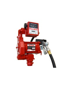 115V AC 20GPM Heavy-Duty Fuel Transfer Pump with Mechanical Meter and Manual Nozzle
