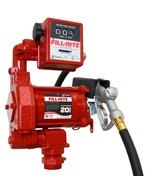 230V AC 20GPM Heavy-Duty Fuel Transfer Pump with Mechanical Meter with Manual Nozzle