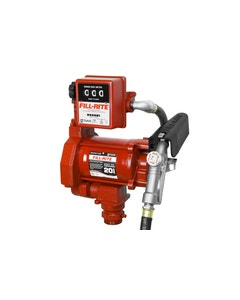 230V AC 20GPM Heavy-Duty Fuel Transfer Pump with Mechanical Meter (Litre) and Manual Nozzle
