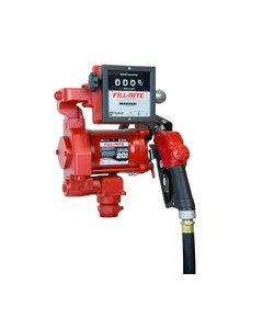 115V AC 20GPM Heavy-Duty Fuel Transfer Pump with Mechanical Meter and Ultra Hi-Flow Auto Nozzle