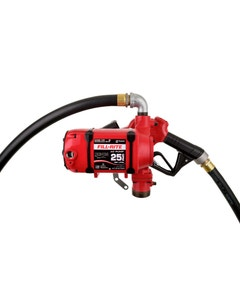 120V AC 25 GPM Continuous Duty Fuel Transfer Pump with Ultra Hi-Flow Auto Nozzle