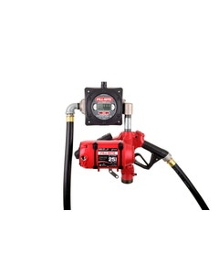 120V AC 25 GPM Continuous Duty Fuel Transfer Pump with Digital Pulser Meter and Ultra Hi-Flow Auto Nozzle