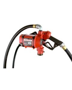 12/24V DC 25 GPM Continuous Duty Fuel Transfer Pump with Ultra Hi-Flow Auto Nozzle