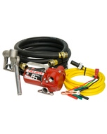 12V DC 12GPM Portable Fuel Transfer Pump with Manual Nozzle