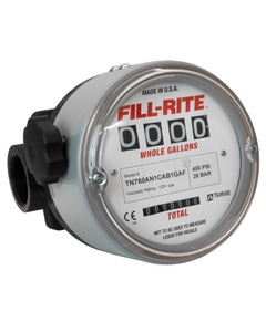 """1.5"""" Litre Meter for Heavy Fuel Oils, Hydraulic Oils, and Lubrications Oils (125+ cSt/600+ SSU), Fluorocarbon Seals, BSPT Threads"""