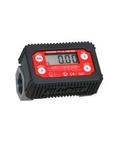 In-Line Digital Turbine Fuel Meter, Nickle Plated